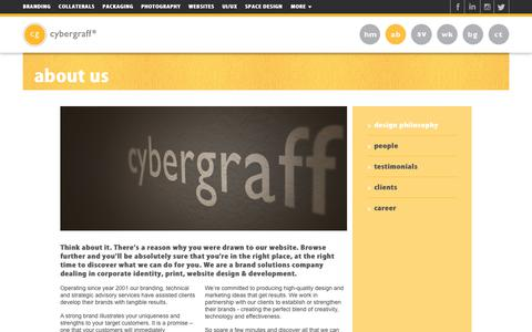 Screenshot of About Page cybergraff.com - Best Creative Digital Agency in Delhi NCR, India - About us   Cybergraff - captured July 22, 2018