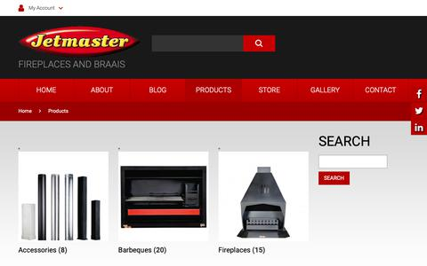 Screenshot of Products Page jetmaster.co.za - Products - JetmasterJetmaster - captured Oct. 22, 2018