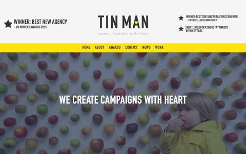 Screenshot of About Page tinmancomms.com - TIN MAN  » About - captured Feb. 23, 2016