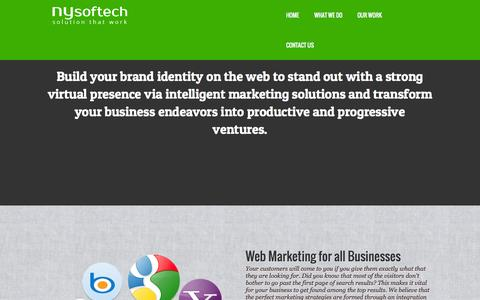 Screenshot of Contact Page nysoftech.com - Online Marketing, SEO, SEM, Web Design & Development Company India - NySoftech - captured Oct. 6, 2014