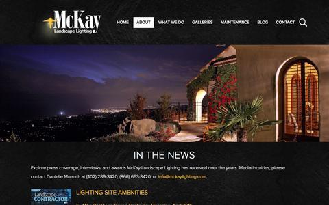 Screenshot of Press Page mckaylighting.com - News Archives   McKay Landscape Lighting - Omaha NE - captured Nov. 28, 2016