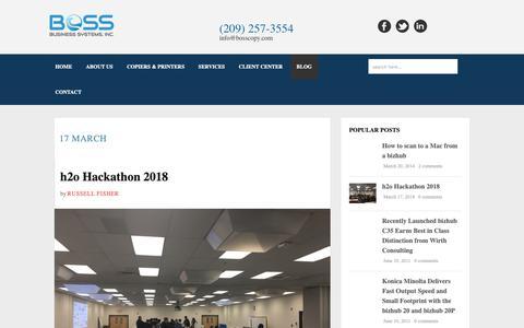 Screenshot of Blog bosscopy.com - Blog - BOSS Business Systems, Inc. - captured Nov. 13, 2018