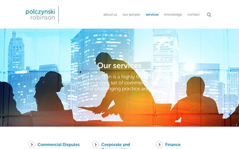 Screenshot of Services Page plawyers.com.au - Our services | Polczynski Lawyers - captured Sept. 24, 2018