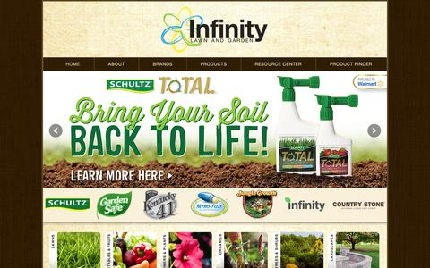 Screenshot of Home Page infinitylawnandgarden.com - Infinity Lawn & Garden | Gardening & Lawn Care Products, Articles & Advice - captured Oct. 6, 2014