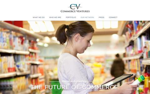 Screenshot of Home Page commercevc.com - Commerce Ventures - captured Oct. 2, 2014
