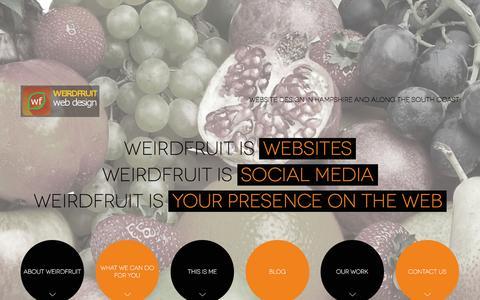 Screenshot of Home Page weirdfruit.com - weirdfruit - Websites, social media & marketing services - captured Feb. 25, 2016