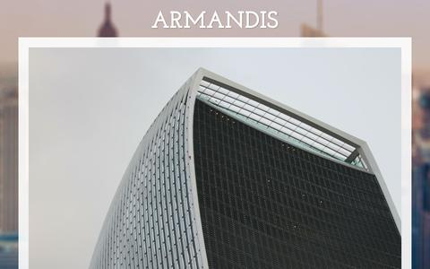 Screenshot of Home Page armandis.com - ARMANDIS - captured Oct. 8, 2017