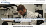 Old Screenshot AKESOgen, Inc. Home Page