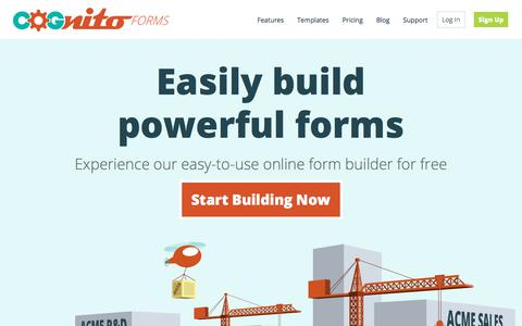 Free Online Form Builder, create HTML forms and surveys - Cognito Forms