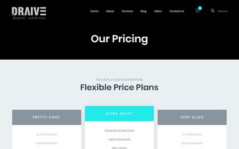 Screenshot of Pricing Page draive.net - Our Pricing – Draive Digital Solutions - captured Oct. 9, 2018