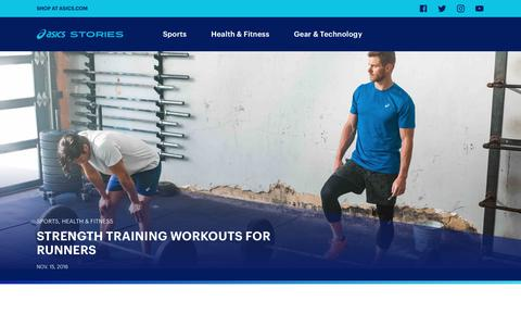 Screenshot of Blog asics.com - ASICS Stories - AU - Sports, Fitness and Inspiration articles from ASICS - captured Oct. 14, 2018