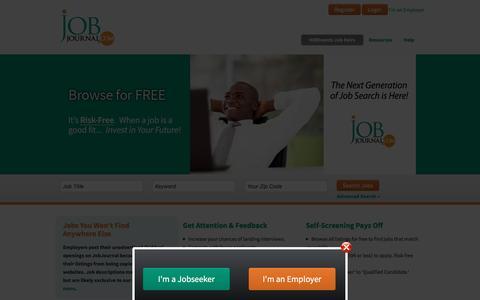 Screenshot of Home Page jobjournal.com - Job Journal - Jobseeker Home - captured Jan. 9, 2016