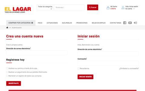 Screenshot of Login Page ellagar.com - El Lagar :: Iniciar sesión - El Lagar - captured July 13, 2018