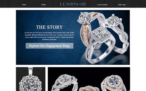 Screenshot of Home Page luminar.com - Luminar | Bridal - captured Feb. 2, 2016