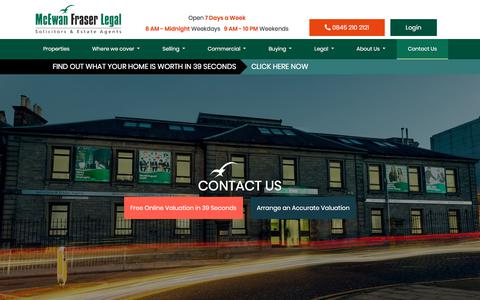 Screenshot of Contact Page mcewanfraserlegal.co.uk - Contact Us | McEwan Fraser Legal - captured Oct. 3, 2019