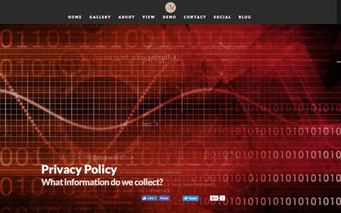 Screenshot of Privacy Page thememorytheater.com - The Memory Theater  » Privacy Policy - captured Dec. 1, 2016