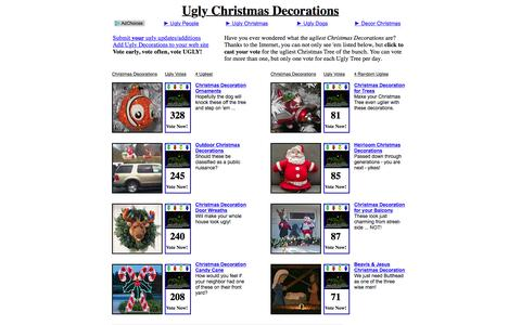 Screenshot of Home Page ugly-christmas-decorations.com - UGLY Christmas Decorations! - captured June 14, 2016