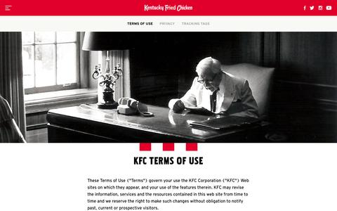 Legal - KFC.com
