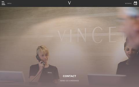 Screenshot of Contact Page thevincenthotel.com - Contact Us | Call us on 01704 883 800 | The Vincent Hotel - captured Nov. 19, 2018