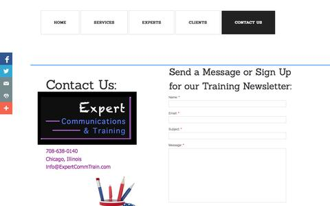 Screenshot of Privacy Page Contact Page expertcommtrain.com - Contact Us - captured Oct. 22, 2014