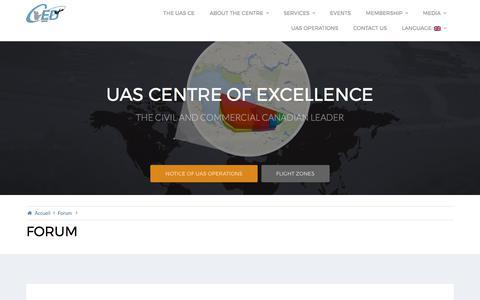 Screenshot of Blog cedalma.com - Forums – UAS Centre of Excellence - captured July 21, 2017