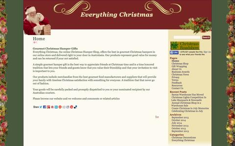 Screenshot of Home Page everythingchristmas.com.au - Everything Christmas - Christmas Decorations & Christmas Theme Gifts - captured Sept. 18, 2015