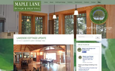 Screenshot of Press Page maplelanedesign.com - Drafting and Design News   Maple Lane Design and Drafting - captured Oct. 27, 2014