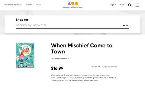Order When Mischief Came to Town, ISBN: 0544534328 | HMH