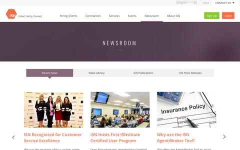 Newsroom - Recent News | ISN