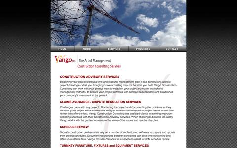 Screenshot of Services Page vangoconsulting.com - Vango LLC - Construction Consulting Services - captured Oct. 9, 2014