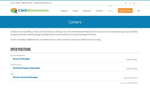 Careers with ClickDimensions