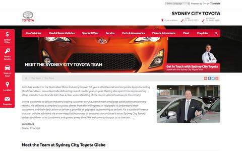 Screenshot of Team Page sydneycitytoyota.com.au - Meet the Sydney City Toyota Team - Sydney City Toyota - captured Sept. 22, 2016