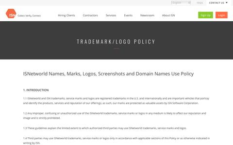 Trademark and Logo Policy | ISN