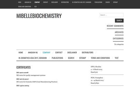 Certificates – Mibellebiochemistry