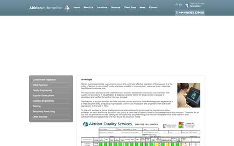 Screenshot of Team Page aktrionautomotive.com - Our People - captured Oct. 4, 2014