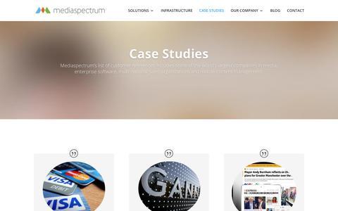Screenshot of Case Studies Page mediaspectrum.net - Case Studies - Cloud-Based Advertising Solutions for Publishers - Mediaspectrum - captured July 1, 2018