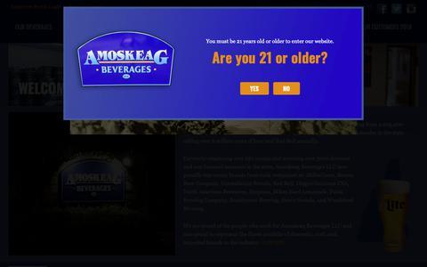 Screenshot of Home Page amoskeagbeverages.com - Amoskeag Beverages - captured Oct. 3, 2018