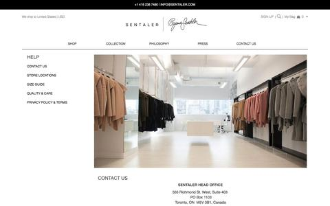 Screenshot of Privacy Page sentaler.com - Sentaler - Help – SENTALER - captured Sept. 20, 2017