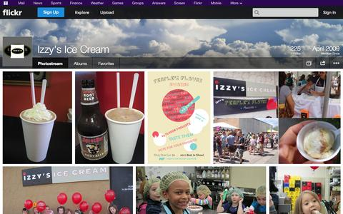 Screenshot of Flickr Page flickr.com - Flickr: Izzy's Ice Cream's Photostream - captured Oct. 23, 2014