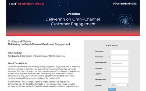 Screenshot of Landing Page tibco.com - Delivering on Omni-Channel Customer Engagement - captured Jan. 24, 2017