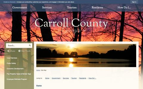 Screenshot of Site Map Page carrollcountyga.com - Carroll County, GA - Official Website - captured Sept. 27, 2018