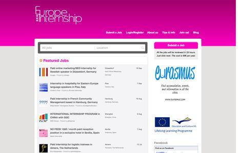 Screenshot of Developers Page europe-internship.com - developer - Europe-Internship - captured Sept. 19, 2014