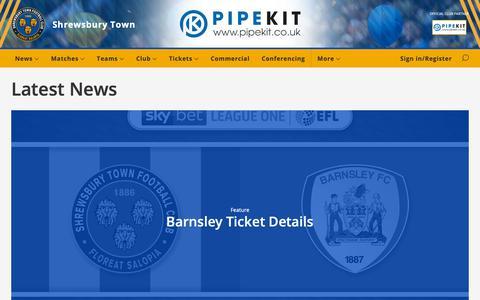 Screenshot of Press Page shrewsburytown.com - Latest News - Shrewsbury Town - captured Oct. 20, 2018