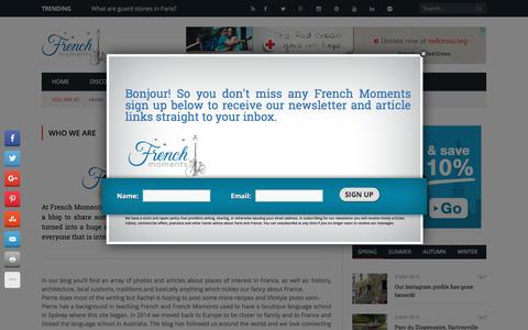 Screenshot of About Page frenchmoments.eu - Who we are - French Moments - captured Aug. 4, 2016