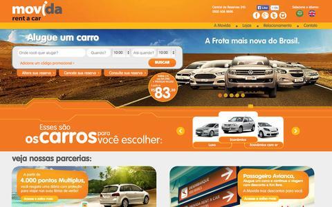 Screenshot of Home Page movida.com.br - Movida Rent a Car - Aluguel de Carros - Faça sua Reserva - captured Sept. 23, 2014