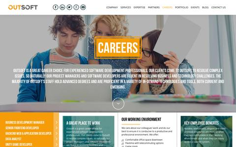 Screenshot of Jobs Page outsoft.com - Careers - Outsoft - captured June 27, 2016