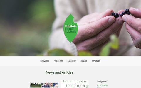 Screenshot of Press Page habitate.co.nz - News | Habitate - Edible Habitats - captured Dec. 6, 2015