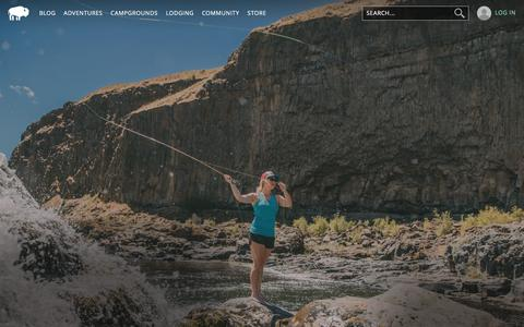 Screenshot of Home Page outdoorproject.com - Outdoor Project | The ultimate adventure guide - captured June 14, 2017