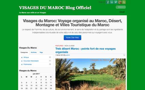 Screenshot of Blog visagesdumaroc.com - VISAGES DU MAROC Blog Officiel | Le Maroc aux mille et un Visages - captured June 20, 2017