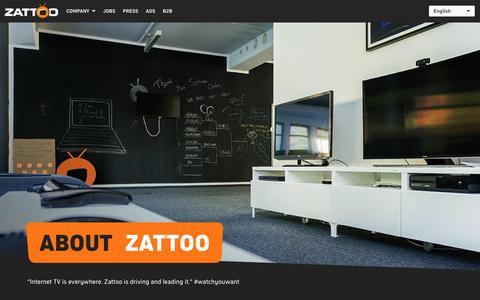 Screenshot of About Page zattoo.com - Unternehmen - captured May 9, 2017